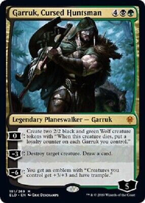 Garruk, Cursed Huntsman MYTHIC Throne of Eldraine MTG Magic The Gathering