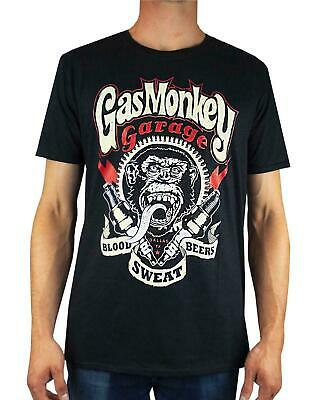"""Gas Monkey Garage """"Blood, Sweat and Beers"""" Sparkplugs Men's T-Shirt"""