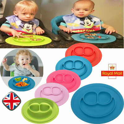 UK Cute Bowl Silicone Mat Baby Kids Child Suction Table Food Tray Placemat Plate