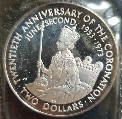 1973 Cook Islands $2 Coin -Silver Proof Coin.......
