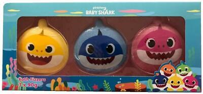 2 x  Bath Fizzers Baby Shark Set of 3 90g Fizzers Kids Bathtime Bath Bomb