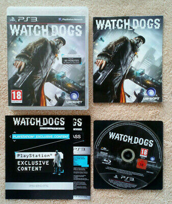 Watch Dogs PS3  / Fr . complet . blu-ray sans rayure . tbé