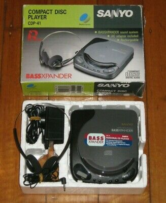 SANYO CDP-41 Compact Disc Player - Complete In Box - Discman - Walkman - VGC