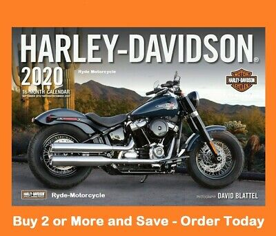 2020 Deluxe Harley Large Wall Calendar 17 x 12 Buy 2 or More Save w Free Bonus