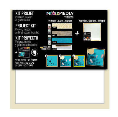 Pebeo Mixed Media Project Kit Paint Set #754901 - Prisme, Moon, 4Artist Markers