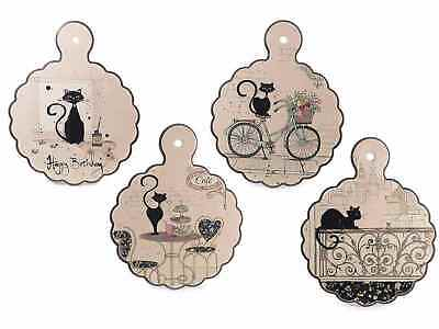 Set quattro sottopentola in ceramica decorata Love Cat