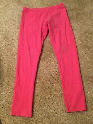 Faded Glory Pink Girls Leggings with Elastic Waist Size L (10-12)