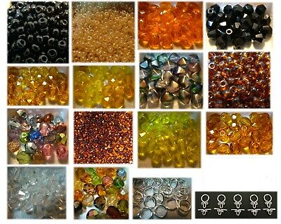HUGE LOT of CZECH GLASS BEADS & FINDINGS OVER 1,950 Items Lot D30-3