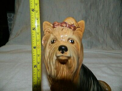 Yorkshire Terrier Yorkie Dog Brown Bow