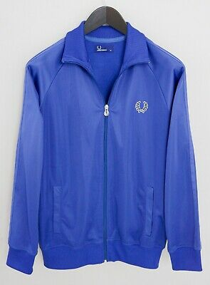 Men Fred Perry Track JacketBlue Activewear M XMM790
