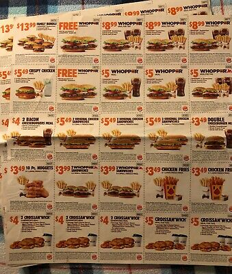 Save! 2 Sheets Burger King Coupons 🍔🍟 🐓 Expire 10/27/19