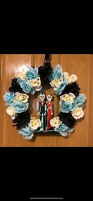 Dia De Los Muertos - Day Of The Dead Handmade Wreath