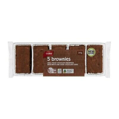 Coles Brownies 5 pack 250g