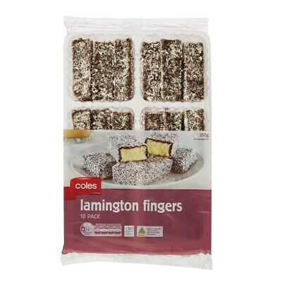 Coles Lamington Fingers 18 pack 350g
