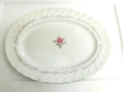 """ROYAL SWIRL Fine China of Japan 14 1/2""""  Oval Serving Platter FREE Shipping"""