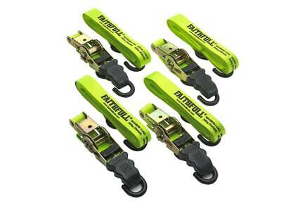 Faithfull Luggage / Load Ratchet Tie Down Strap Set 4 Piece 5m x 25mm XMS19TIED4