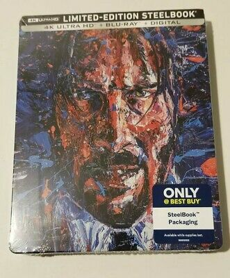 John Wick 3 Parabellum Best Buy Exclusive 4K Uhd Bluray Steelbook Sealed Mint