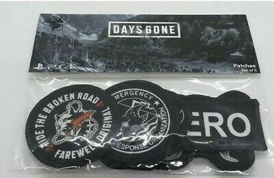 Official Days Gone Sony Playstation PS4 Set Of 5 Patches New Quantity 40 Units