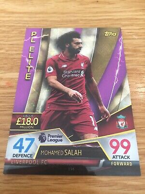 topps match attax ultimate 2018/19 pl elite Mohamed salah Card No. 156 liverpool