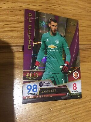 Match Attax Ultimate 2018/19 David De Gea Pl Elite No 158 Mint