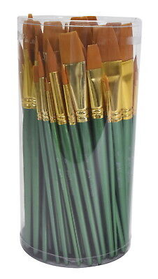 Sax Optimum Golden Synthetic Taklon Paint Brushes, Assorted Sizes, Set of 72