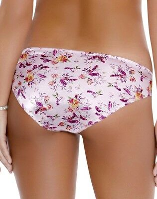 "Women Panties,Brief Bikinis/""Ilusion/""Size M.Silky Satin Floral W//front Protector"