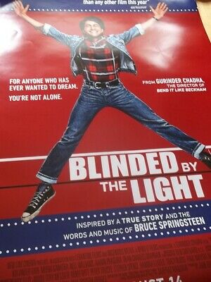 """Blinded by the Light Original Double-Sided 27"""" X 40"""" 2019 MOVIE THEATER POSTER"""