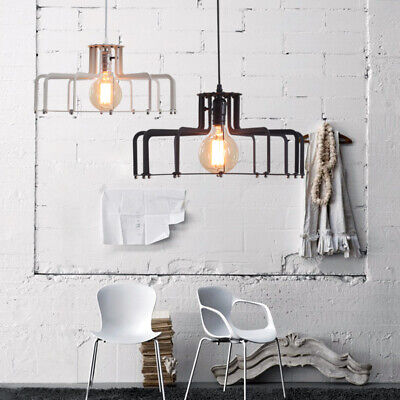 Bar Wrought Iron Chandelier Dining Pendent Lamps  Hanging Line Table Living Room