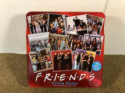 Friends TV Show Trivia Board Game by Cardinal 2003 Collectible Red Tin Complete