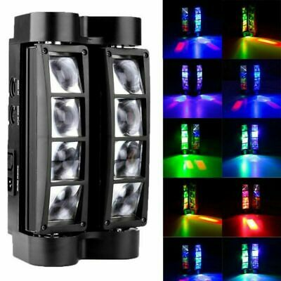 80W RGBW 8LED Spider Moving Head Stage Lighting Beam DMX512 Disco Party Lights