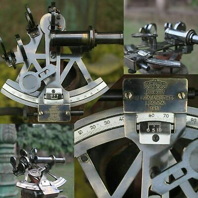 Solid Brass Marine Sextant Vintage Working German Sextant Ship Instrument Gift