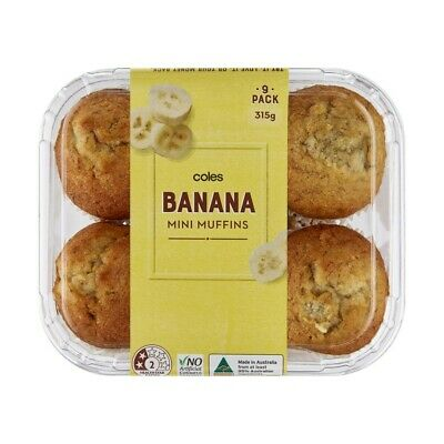 Coles Banana Mini Muffins 9 Pack 315g