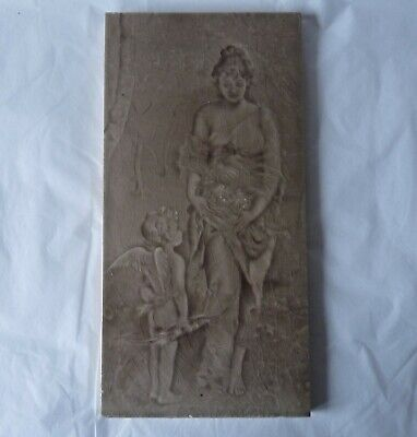 """Tile by Craven Dunnill & Co Jackfield - Maiden & Cherub Emaux Ombrants 12"""" x 6"""""""
