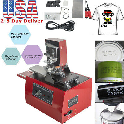 Electric Pad Printer Printing Machine T-Shirt Ink Print PVC MUG Ball Pen Machine