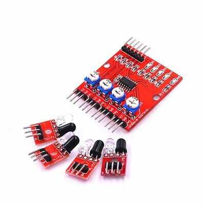 Board 4 Way Infrared Tracing Tracking Module Inspection Line Module Car Robot DH