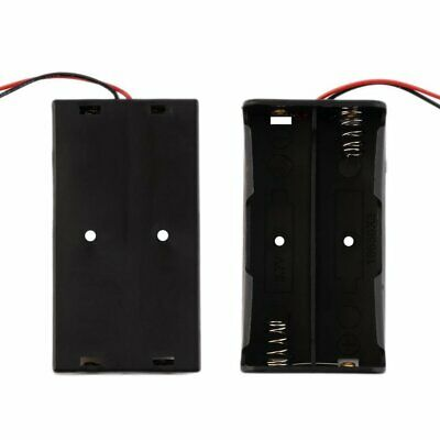 Plastic Battery Storage Case For 2 PCS 18650 Batteries With Wire Leads #