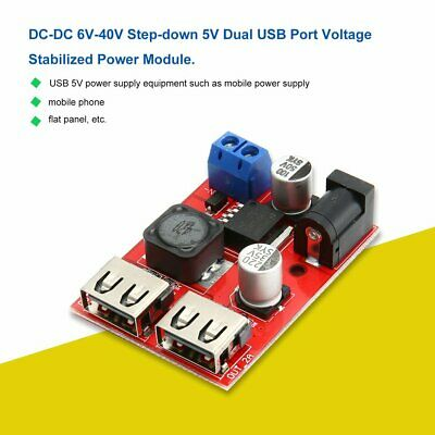 DC-DC 6V-40V to 5V Voltage Stabilized Power Module 3A Power Supply Buck Module D