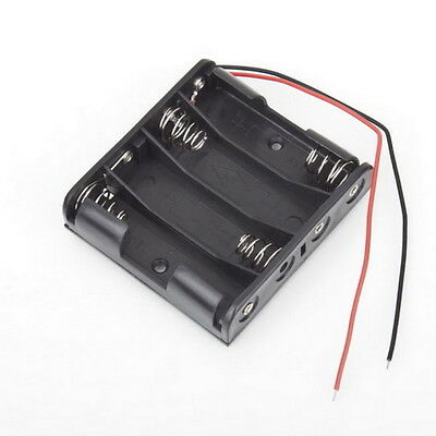 Battery Box Slot Holder Case for 4 Packs Standard AA 2A Batteries Stack 6V NC