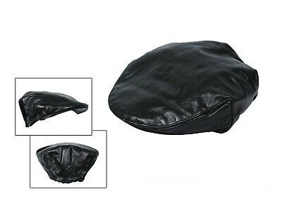 Men Leather Flat Cap / Golf Cap Elastic on back