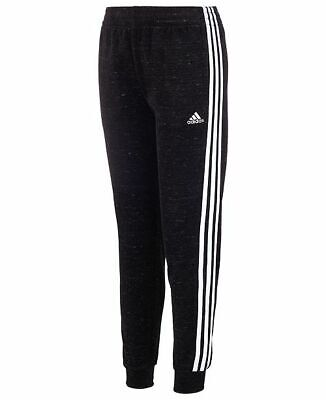 Adidas Toddler Girls Velour Jogger Pants Black UK Size 2- 3 yrs BNWT