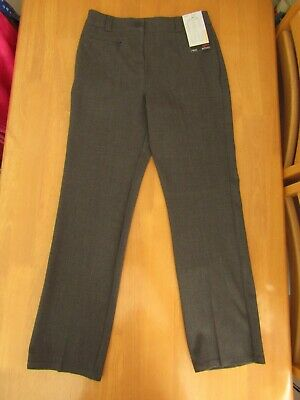 Next Girls Stretch Slim Leg Teflon Coated Grey School Trousers - Age 11 - BNWT