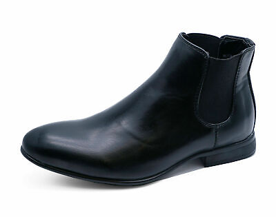 Girls Kids Black Chelsea Dealer Smart Formal School Shoes Ankle Boots Size 10-5