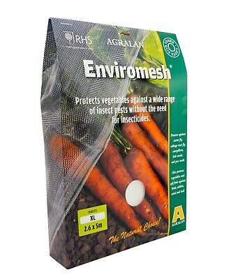 RHS Agralan Enviromesh XL 2.6 x 5m Protects Vegetables Against Insect Pests