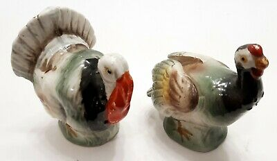 Vintage Turkey Hen and Tom Male and Female Salt and Pepper Shakers