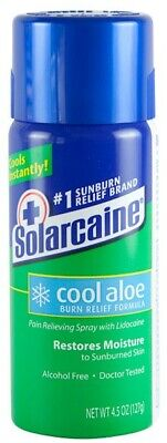 Solarcaine COOL Aloe BURN Relief SPRAY Sunburns Minor Burns/Cuts Insect Bites BN