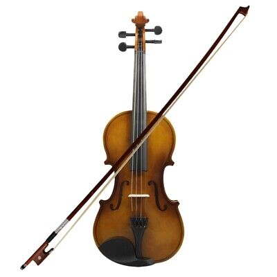 4/4 Full Size Acoustic Violin Fiddle Wood With Case Bow Rosin Violin N2J3
