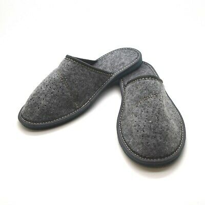 Ladies Womens Slippers Slip On Shoes Sizes UK 3 4 5 6 7 8 Mules Grey F