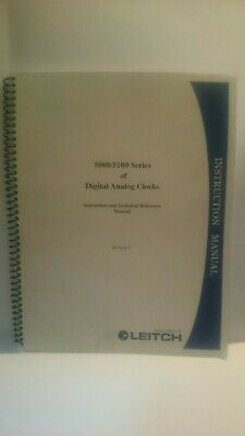 Leitch 5000/5100 series digital analog clocks instruction and technical manual