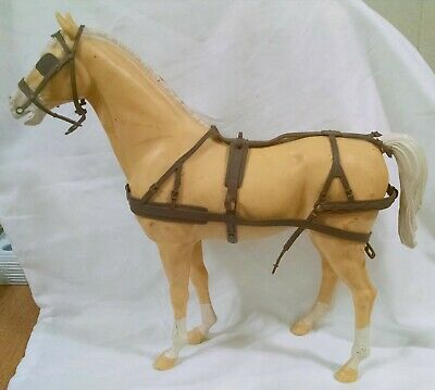 1960'S Vintage Marx Toy Johnny West Wagon Horse. Horse & Harness, Bridle Only.