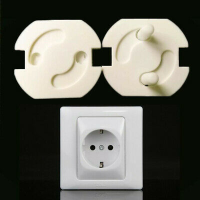 10pcs EU Power Socket Electrical Outlet Cover Rotate Protector Plugs Shock